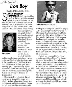 Iron Boy filmmaker - CASA Magazine (2008)